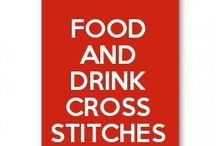 food and drink cross stitches