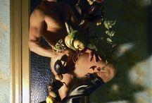 MIN / materials : Chirita, Amber, Solanum melongena, Solanum tuberosum, Allium cepa, Cucurbita, Citrus limon, Tradescantia, Tillandsia, Orchidaceae. model : Max foto and floristic : Stas Zubov