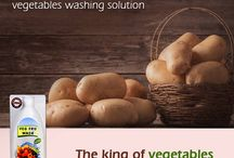 VEG FRU WASH - EAT CLEAN - LIVE HEALTHY / PATENTED and Fssai licensed. Exclusive food grade cleaner for vegetables and fruits. Removes all surface contaminants including pesticide residue, bacteria, virus, sand, dirt., wax, grime in 1 single wash.