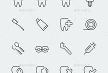 icon dental e infographic