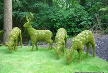 grass sculptures / figuras de pasto