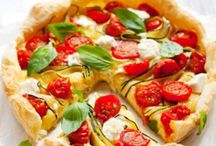 Tarte tomates courgettes chavroux