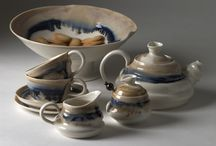Tea sets By Laura De Benedetti / Sets of cups teapots sugar bowls and jugs, handmade ceramic porcelain