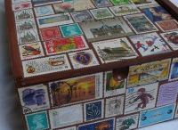 Postage Stamp Art / Creative and fun usage of recycled postage stamps