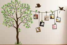 Tree art on the wall