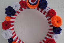 kransen van vilt / Gemaakt tijdens een workshop/ kinderfeestje bij crea bij engel