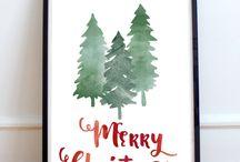 Druckvorlagen Weihnachten/ Christmas Printables