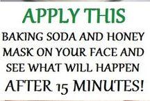 baking soda & h facemask