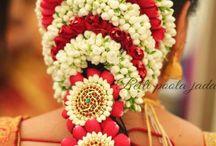 Indian Bride flower hair style