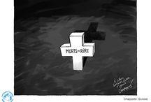 je suis charlie / dessins en hommage à l'attentat liberté humour art caricature presse