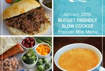 Budget Friendly Slow Cooker Mini Menu January 2015 / Whether you are making new financial goals this year or just need to stock your freezer prudently, this Budget Friendly Slow Cooker Mini January 2015 Menu brings together delicious dinners that are both inexpensive and easy to put together. / by Once A Month Meals