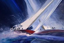 Sail art / Scenes of sailing. Only a sailer knows the feeling...