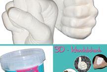 Handabdruck, Gispabdruck, Abformung, bambelina, Tausendschön, bambehina, 3D