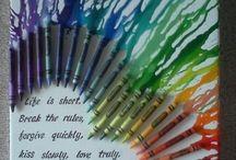 Kleurkrijt-kunst