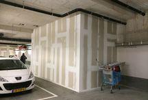 Herstelwerkzaamheden en sauswerk P8 Stadshart / Herstelwerkzaamheden en sauswerk van de lifthokken in parkeergarage P8 in winkelcentrum Stadshart te Zoetermeer. Opdrachtgever: Unibail-Rodamco