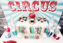 Clown Party / Cakes, decorations, snacks and more to create a perfect circus and fun themed party!