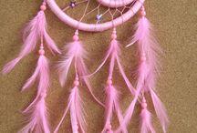 Atrapa sueños doble rosado