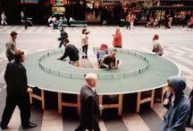 Mobilier urbain interactif