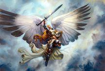 Eu acredito em Anjos! / Anjo Criatura mítica Anjo, segundo a tradição judaico-cristã, a mais divulgada no ocidente, conforme relatos bíblicos, são criaturas espirituais, conservos de Deus como os homens, que servem como ajudantes ou mensageiros de Deus.
