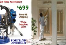 Graco 390 Airless Paint Sprayer 50% off Special / While supplies last @ Portland Compressor you can get a professional contractor grade airless paint sprayer for HALF the cost!  This amazing offer will only last until we run out of units!  Get your Graco today!