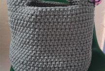 Baskets / Koszyki / wykonane w pracowni Pif Paf Puf/ made in Pif Paf Puf workshop Koszyki robione ręcznie na szydełku z bawełnianego sznurka bądź przędzy spaghetti. // Koszyki robione ręcznie na szydełku z bawełnianego sznurka bądź przędzy spaghetti. // Handmade crochet baskets from cotton cord or yarn spaghetti