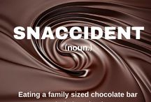 Snaccident: eating a family sized chocolate bar entirely by mistake.