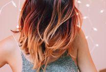 Mechas cabello cobrizo