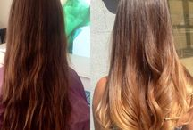 Ombre , hair style