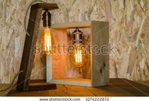 Wooden Vintage Edison Bulb / home decoration