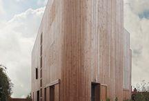architektura z drewnem