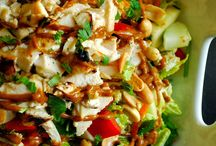 thai chicken  salad with sesame dressing