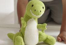 Stuffed toys knitting