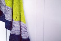 Shawls / Beautiful shawls made with yarns from the shop.