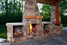 Outdoor Fireplaces / Let's heat things up with style...
