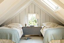 Attic Spaces / I'm inspired to create this board, because I long to transform the attic space off of my master bedroom into a dreamy retreat.  Someday....Until, then I dream... / by AT HOME