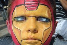 Ansiktsmaling superhelter