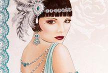 Art deco style / Vintage Fashion. Art deco style