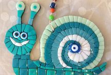 mozaikler ve keçeler / Ceren için mozaikler ve keçeler