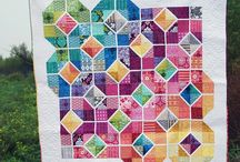 Over the Rainbow / quilts in rainbow colors