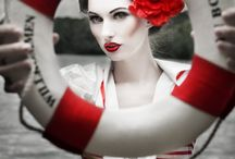 Black & White & Red All Over. / by Rebecca Gerondale