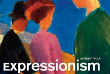 Expressionism / Modernist movement, initially in poetry & painting. German originated: beginning 20th C.  Its typical trait is to present the world solely from a subjective perspective, distorting it radically for emotional effect in order to evoke moods or ideas. These artists sought to express meaning or emotional experience rather than physical reality.  Expressionism was developed as an avant-garde style before the First World War. It remained popular during the Weimar Republic, particularly in Berlin.  / by Jean Elizabeth Ward