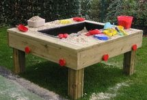 Sand Pits and Sand Play / A range of high-quality timber sand pits and other sand play equipment for playgrounds and play areas.