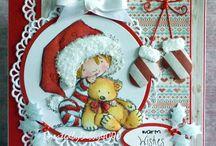 Card Natale timbri
