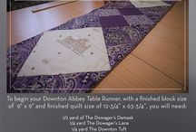 Downton Abbey Fabric Project / Follow our step-by-step guide on how to create your own Downton inspired Table Runner. A delightful addition to your dining table!!