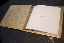 Carta Caray / La carta del restaurante Caray, por el Chef Miguel San Román y diseñada por el prestigioso Consultor Creativo, Luis Muelas