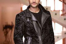 мужская меховая мода