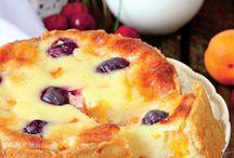prăjituri cu brînza si fructe