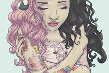 MelanieMartinez, pastel goth etc.