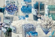Blue Candy Buffet / I LOVE designing Candy Buffets for weddings, showers, birthdays, graduations ... they really are fun for ANY occasion!