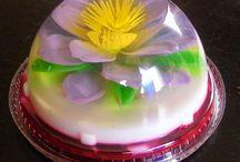 flores  en  gelatina